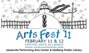 LogoArtsFest Info 300x180 Performance: Saturday, February 12th ~ 1pm ~ Janesville Performing Arts Center